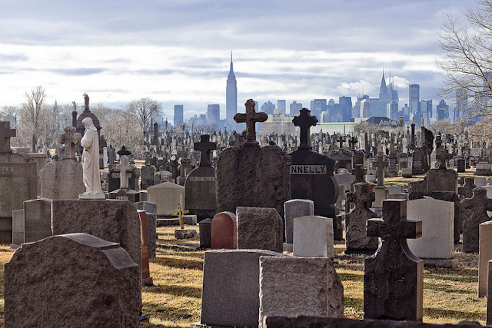 calvary with manhattan skyline